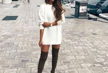 Lady knee high boots