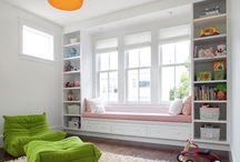Family Room Book Shelves