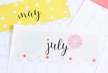 ✄ {Printable} Calendriers 2016 ✄