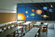 For the classroom! / Informative custom printed roller blinds for the class room.