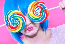 CANDY CRUSH / photo shoot i thought up, and done hair for. cut and colour