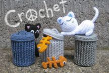 Crafts: Amigurumi / Amigurumi (lit. crocheted or knitted stuffed toy) is the Japanese art of knitting or crocheting small stuffed animals and anthropomorphic creatures. The word is derived from a combination of the Japanese words ami, meaning crocheted or knitted, and nuigurumi, meaning stuffed doll. Amigurumi are typically animals, but can include artistic renderings or inanimate objects endowed with anthropomorphic features, as is typical in Japanese culture.