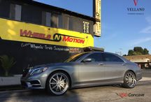 2015 Mercedes Benz S550 on VELLANO forged wheels style VSO on Continental DWS tires