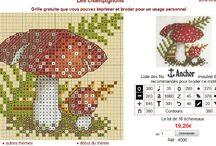 Vyšívané  houby