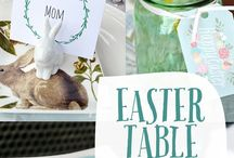 easter table decorations/ table settings