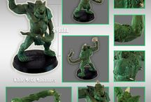 PESTILENCE TROLL / Miniature white metal with resin accessories for all Pestilence Team!!! Fantasy Football