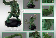 PESTILENCE TROLL / Miniature white metal with resin accessories for all Pestilence Team!!! Fantasy Football