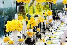 Yellow and Black Events / #Yellow #Black #CandyBuffet #Sweets #Wedding #Birthday #Shower #Love #Glamorous
