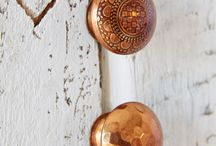 copper knobs kitchen