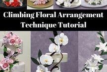 Fondant flower arrangements