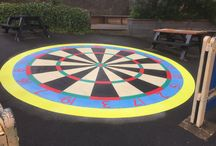 Dartboard Playground Markings / Dartboard Playground markings by first4playgrounds