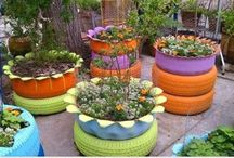 jardim reciclado