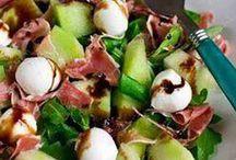 meloen met ham salade