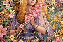 Maia / Maia - la déesse qui nous inspire à nous épanouir; Maia nous murmure d'oser FLEURIR, de prendre le risque d'éclore. Mon travail avec le féminin sacré sur alineverheyen.be