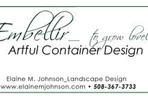 Embellir_Artful Container Design by Elaine / A compilation  of some of my favorite container designs for my clients as well as other decorative garden touches
