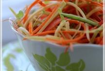 Salade croquante au parfum de miel et d'ail