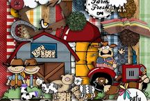 Farm Fresh / Nothing better than a lazy day on the farm.  Cute characters and all of the things you'll find on a farm.