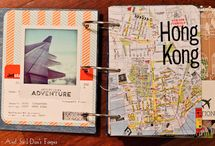 DIY Traveling journal board / Traveling journals from every overseas holiday!