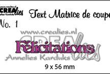 Crealies Matrice de coupe texte (Franse tekst stansen) / You can buy them here: https://www.crealies.nl/n1/30401/Stans-Texte-fran-ais.htm