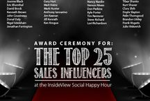Top 25 Sales Influencers of 2013 Awards @ Dreamforce 13 / InsideView's first annual awards ceremony to honor the Top 25 Influencers in Sales held at our Social Happy Hour at Dreamforce 2013 / by InsideView Inc.