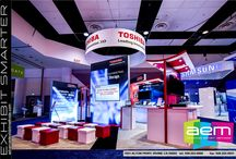 Light Box Walls and Displays / Light boxes from AEM, for rent and for sale by Advanced Exhibit Methods, make eye-catching trade show exhibits.
