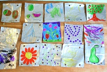 Kids' Art Projects / Art projects for classroom or home for a variety of ages; especially featuring process art activities