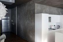 Imitace pohledového betonu / pohledová stěrka imitující pohledový beton