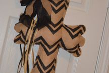 Door Hangers & Art  / Burlap, wreaths, etc  / by Sarah P.