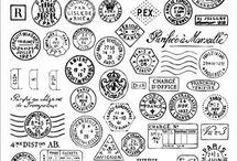 decoupage znaczki