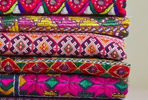 Textiles / Ethnic textiles offer a fabulous array of colours combinations, textures, hand embroidery and patterns.