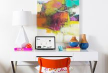 #SURYASPACES: Workspace / A collection of images of Surya products in action. See how others have used Surya rugs, pillows, poufs, throws and wall art in their home to inspire ideas for your own!