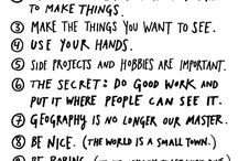 Inspirational Words / Quotes, words, sayings, phrases and inspiration presented artistically through painting and typography to remind us how good life is / by Chloe