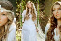 1970's Inspired Bohemian Hippy Bridal Hair and Makeup