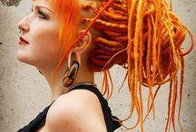 Orange dreadlocks