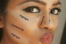 contorno de rosto