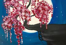 Acrylic paintings cherry blossoms / Everything cherry blossom.