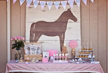 Birthday Theme: Cowgirl Party / BIRTHDAY PARTY THEME: Cowgirl, Cowboy, Horse, Pony, Country, Western, Wild West, Ranch, Farm