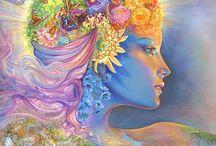 Josephine Wall fantázia képei