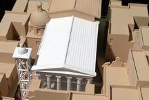 Concorso per la riqualificazione del Duomo di Pazzuoli, scala 1:200