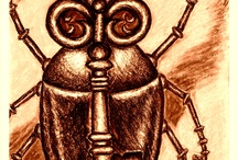 My Weird Beetle Drawings / My drawings of...unusual beetles. Yes, weird ones.