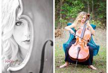 violin and cello portraits