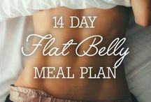Flat belly eating