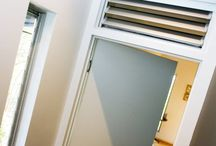 Breezway Louvre Windows Above or Beside Doors / Altair Louvres above or beside doors allow fresh air in to circulate the room even when the door is closed.