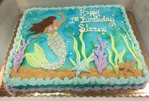 Mermaid cake buttercream