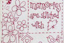Redwork Stitchery