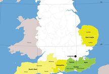 England - wine maps