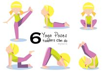 Yoga pose for toddlers