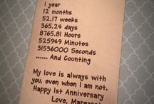 Anniversary ideas <3