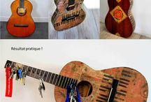 Guitare cassée deuxième vie / Déco guitare