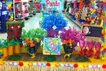 Luau Party Time / Celebrate summer with a tropical luau party theme. Alin has a HUGE selection of Hawaiian party supplies, Luau decorations, wearables, balloons and innovating ideas to make your party a big splash.